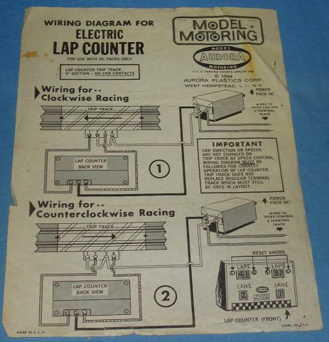 aurora model motoring ho slot cars electric lap counter. Black Bedroom Furniture Sets. Home Design Ideas