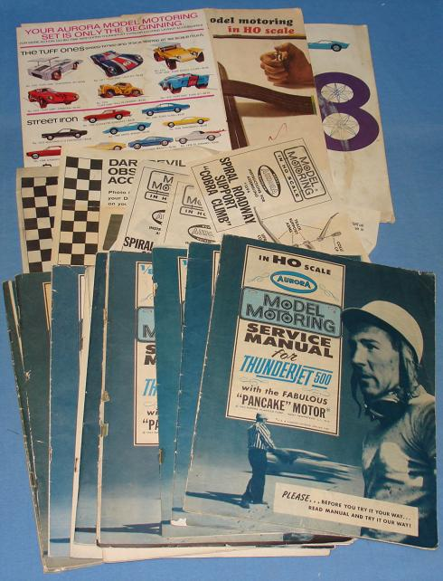 AURORA HO SLOT CARS SERVICE MANUALS & INSTRUCTION SHEETS COLLECTION