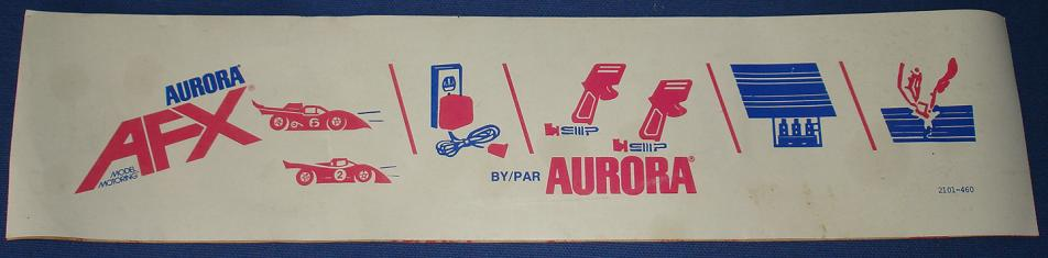 Aurora Model Motoring AFX Slot Car Bumpersticker