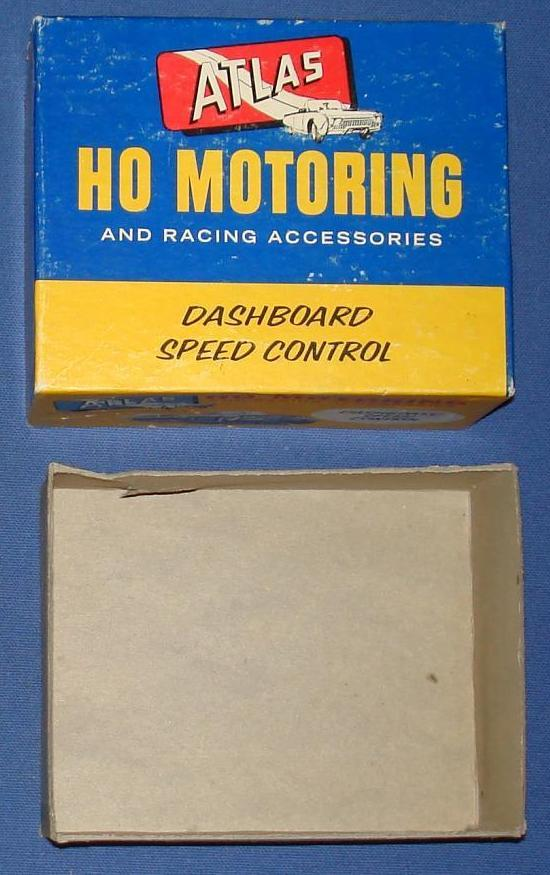 Atlas HO Slot Car Dash Board Steering Wheel Controller Empty Box Lid & Bottom