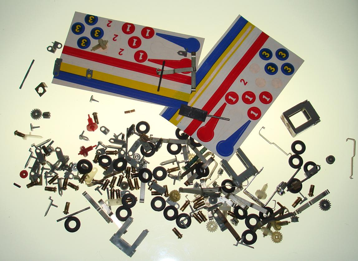 Atlas HO Slot Car Chassis Parts Assortment