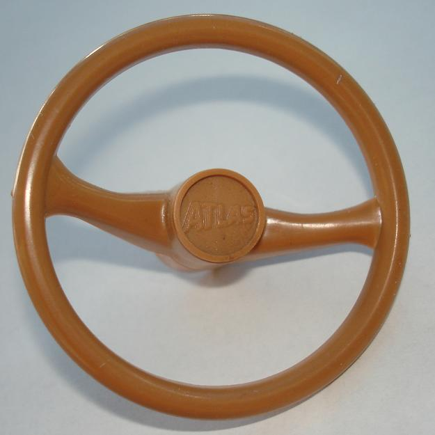 Atlas HO SlotCar Caramel Steering Wheel