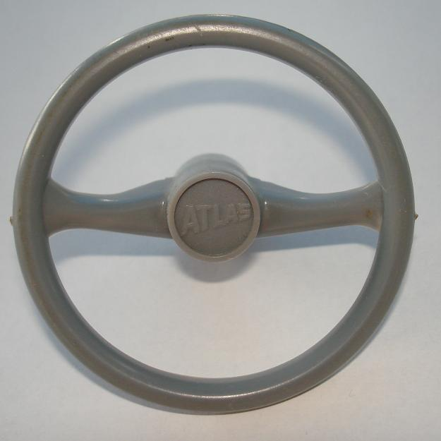 Atlas HO SlotCar Light Grey Steering Wheel
