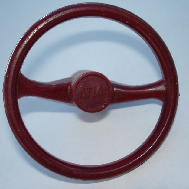 Atlas HO SlotCar Maroon Steering Wheel