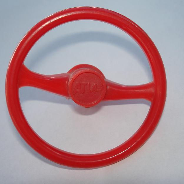 Atlas HO SlotCar Red Steering Wheel