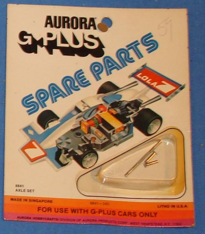 Aurora GPLUS Slot Car Spare Parts Replacement Axle Set