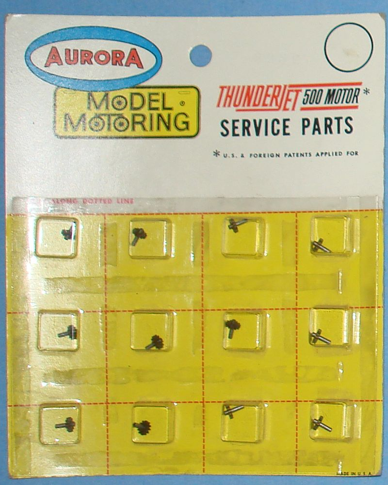 Aurora Model Motoring Thunderjet 500 Motor Slot Car Racing 12T Drive Pinion Cluster Gear Shaft Hop Up Set 8332 Full Card