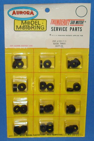 Aurora Slot Car Parts Slick Tires