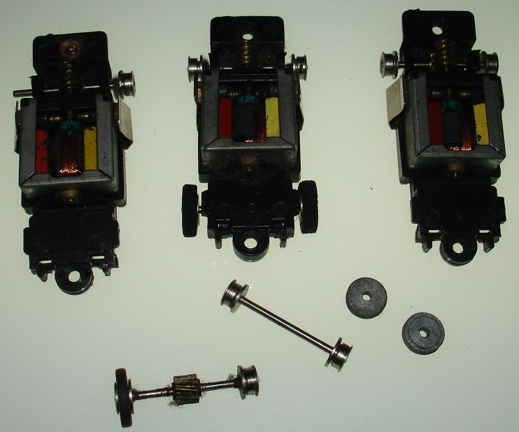 Bachmann Slot Car Chassis Parts Motors Axles Wheels