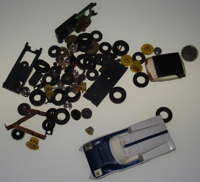 T jet slot car parts