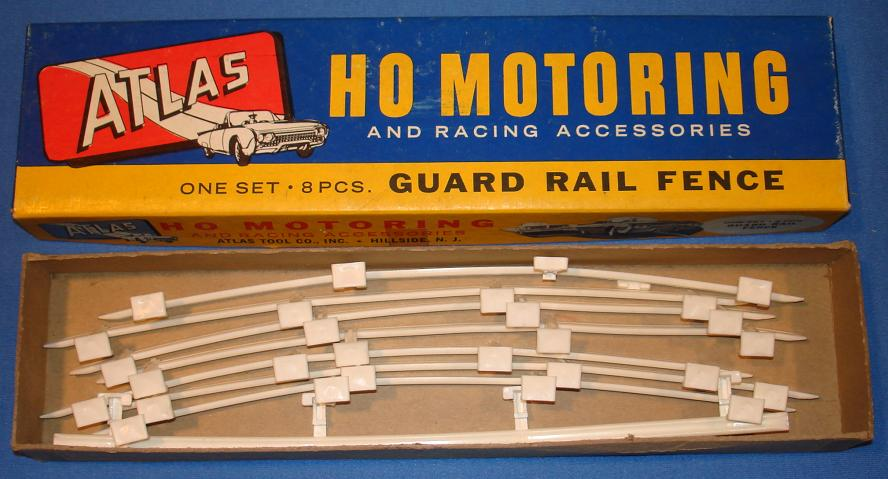 Atlas HO Slot Car Track Scenery Type II White Guard Rail Fence