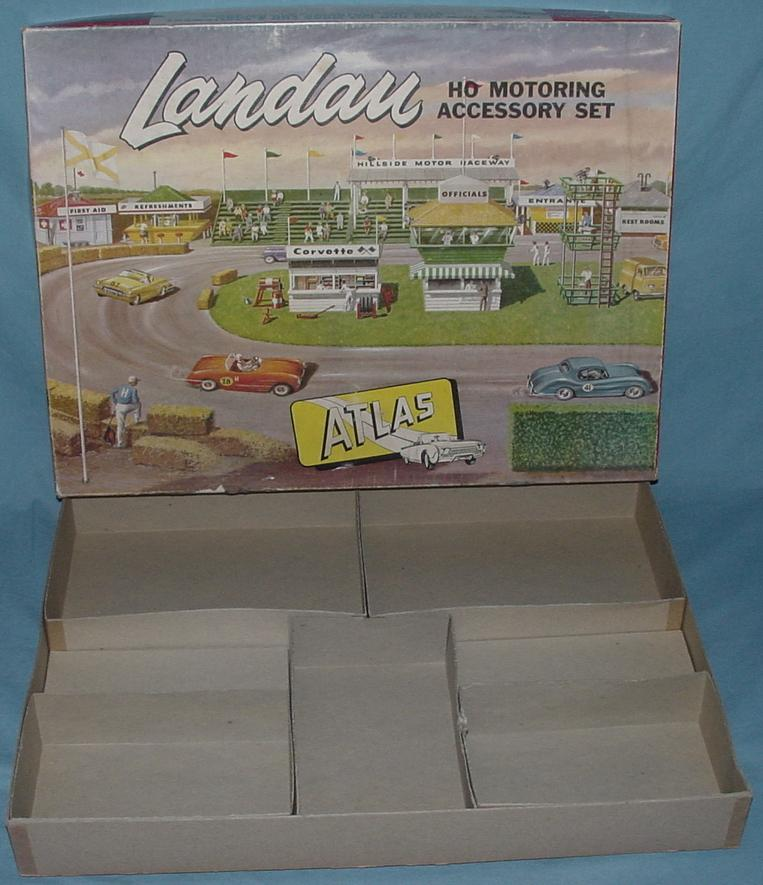 Atlas HO SlotCar Racing Motoring Accessory Landau Set Box Contents #1401-595