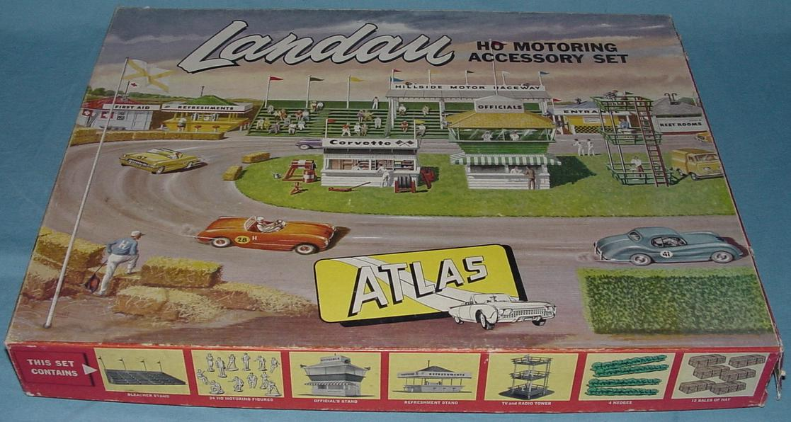 Atlas HO SlotCar Racing Motoring Accessory Landau Set Box #1401-595