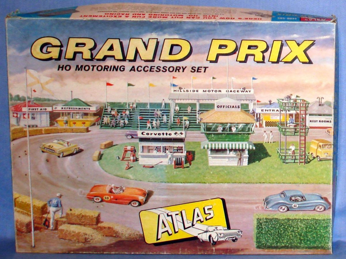 Atlas HO Slot Car Racing Motoring Accessory Grand Prix Set Box #1400-595