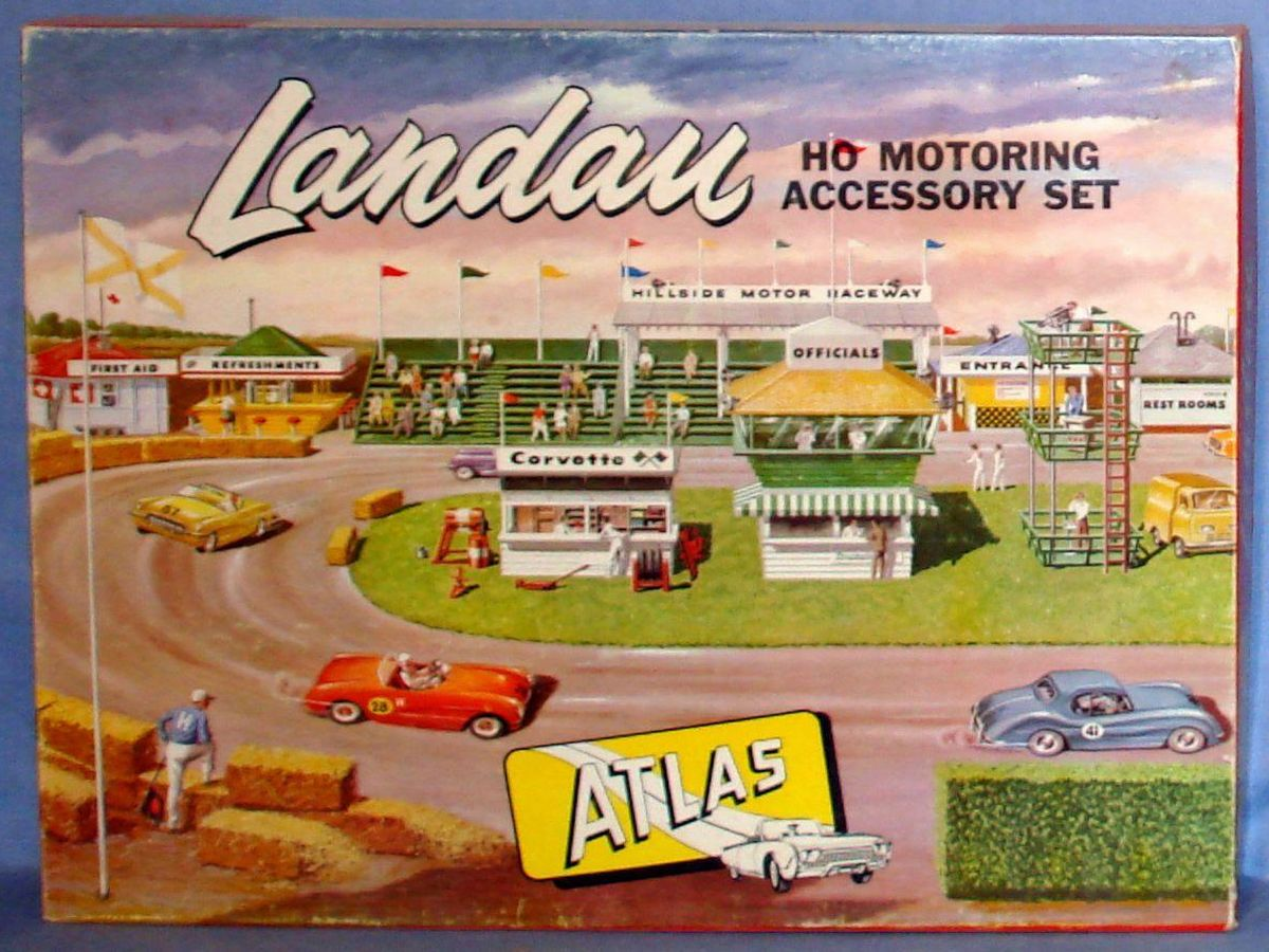 Atlas HO Slot Car Racing Motoring Accessory Landau Set Box #1401-595