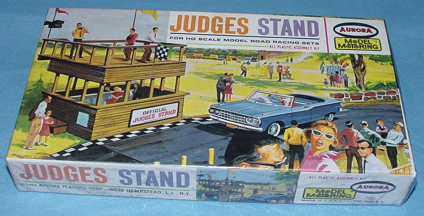 Aurora Motoring Thunderjet 500 TJET Slot Car Road Racing 1:87 Scale Scenery Judges Stand Building Kit