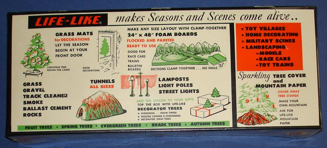 Life Like 1:87 Scale Slot Car Road Racing Layout Scenery Trees Box Advertisement