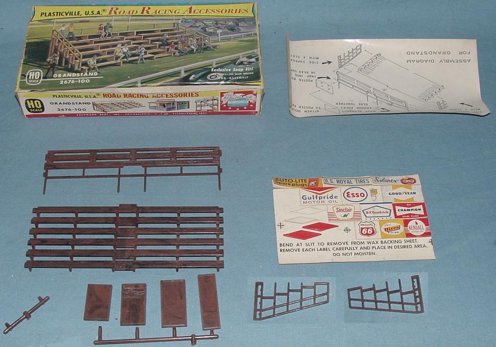 Plasticville USA Road Racing Accessories Grandstand Kit #2676