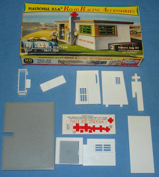 Plasticville USA Road Racing Accessories First Aid Station Kit #2677