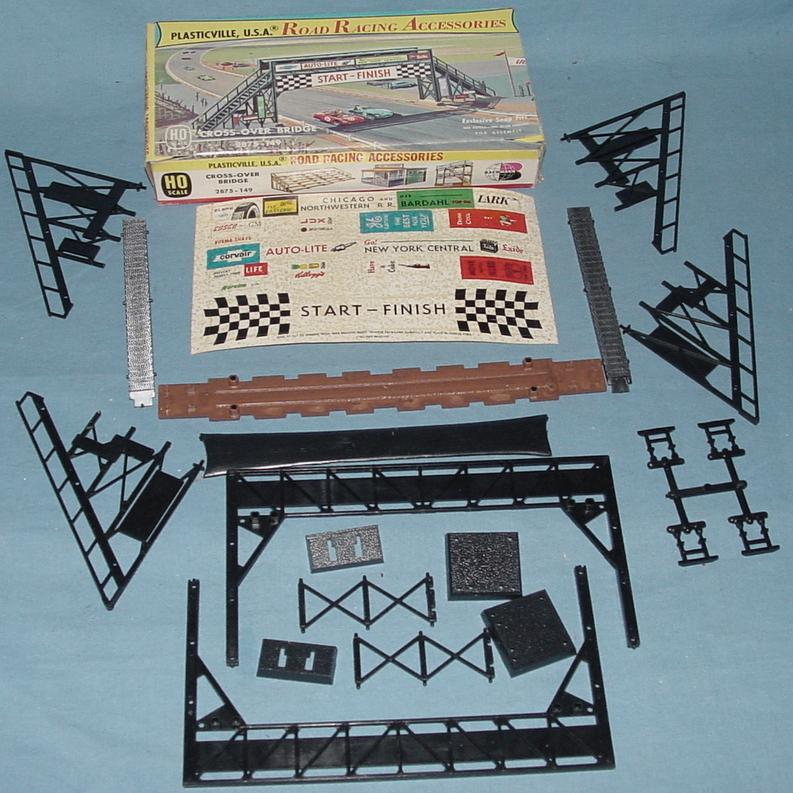 Plasticville USA Road Racing Accessories Cross Over Bridge Kit #2875
