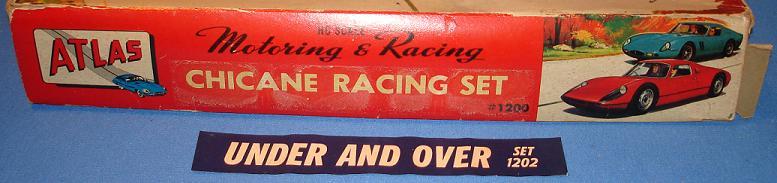Atlas HO Scale Slot Car Racing Set Box Panel