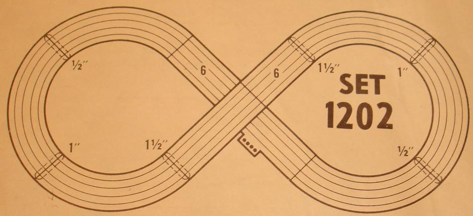 Atlas HO Scale Slot Car Racing Set Track Diagram
