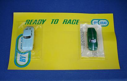 Atlas HO Slot Car Set Jaguar XKE Porsche 904