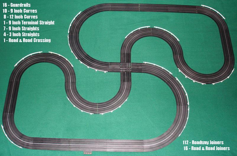 Atlas 1215 Snake Run Crossing SlotCar Track Layout