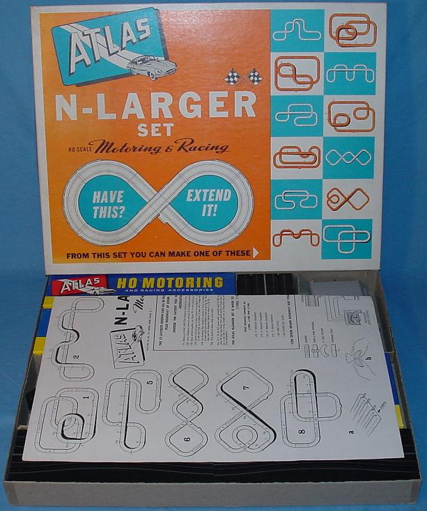 Atlas HO Slot Car N Larger Set Instructions