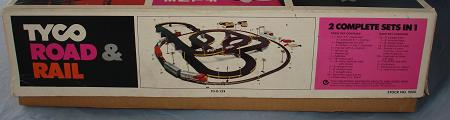 Tyco Tycopro Road & Rail HO Slot Car Racing Electric Train Set #9000