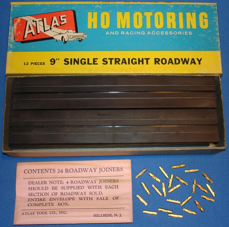 Atlas 9 Inch Single Lane Straight HO Slot Car Tracks