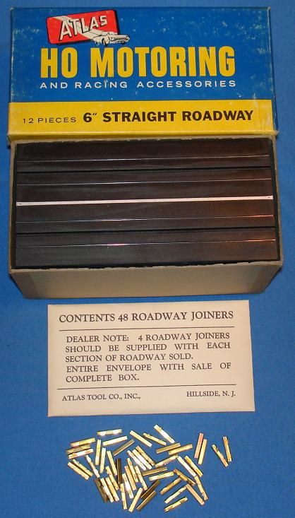 Atlas HO Scale Six Inch Straights Slot Car Racing Track Box #1222