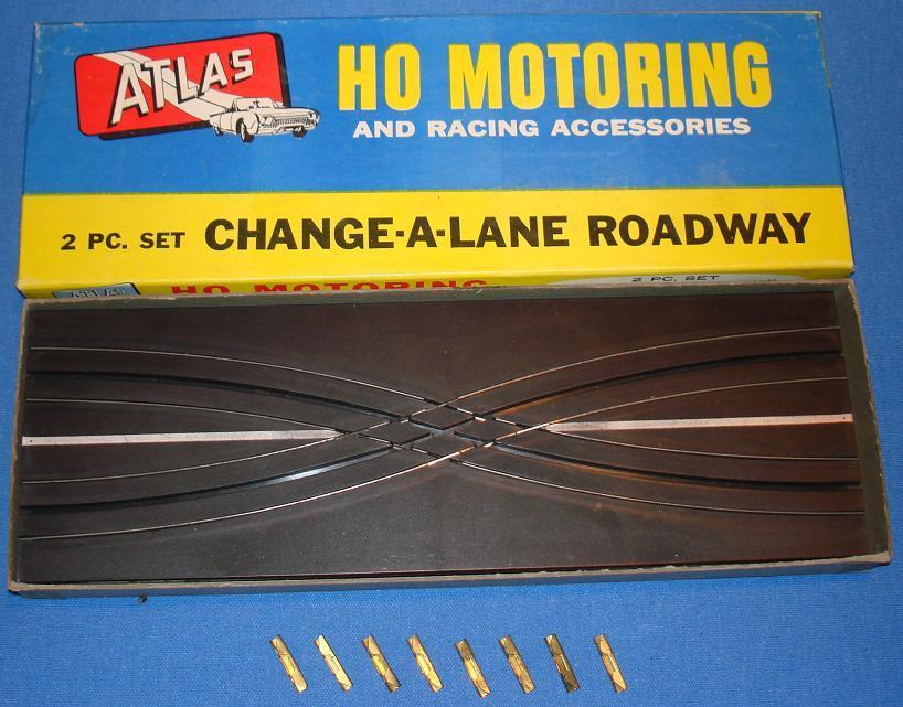 Atlas HO Change A Lane Slot Car Track