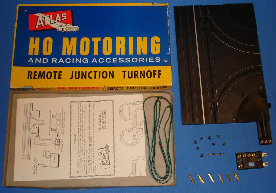 Atlas HO Scale Slot Car Racing Track Remote Junction Turnoff
