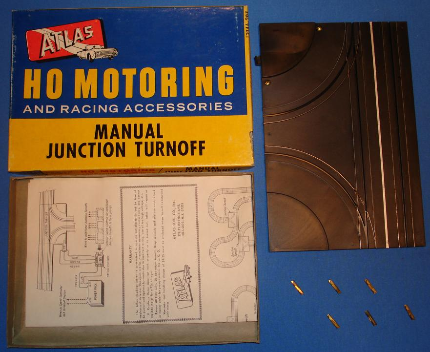 Atlas HO Scale Slot Car Racing Track Manual Junction Turnoff
