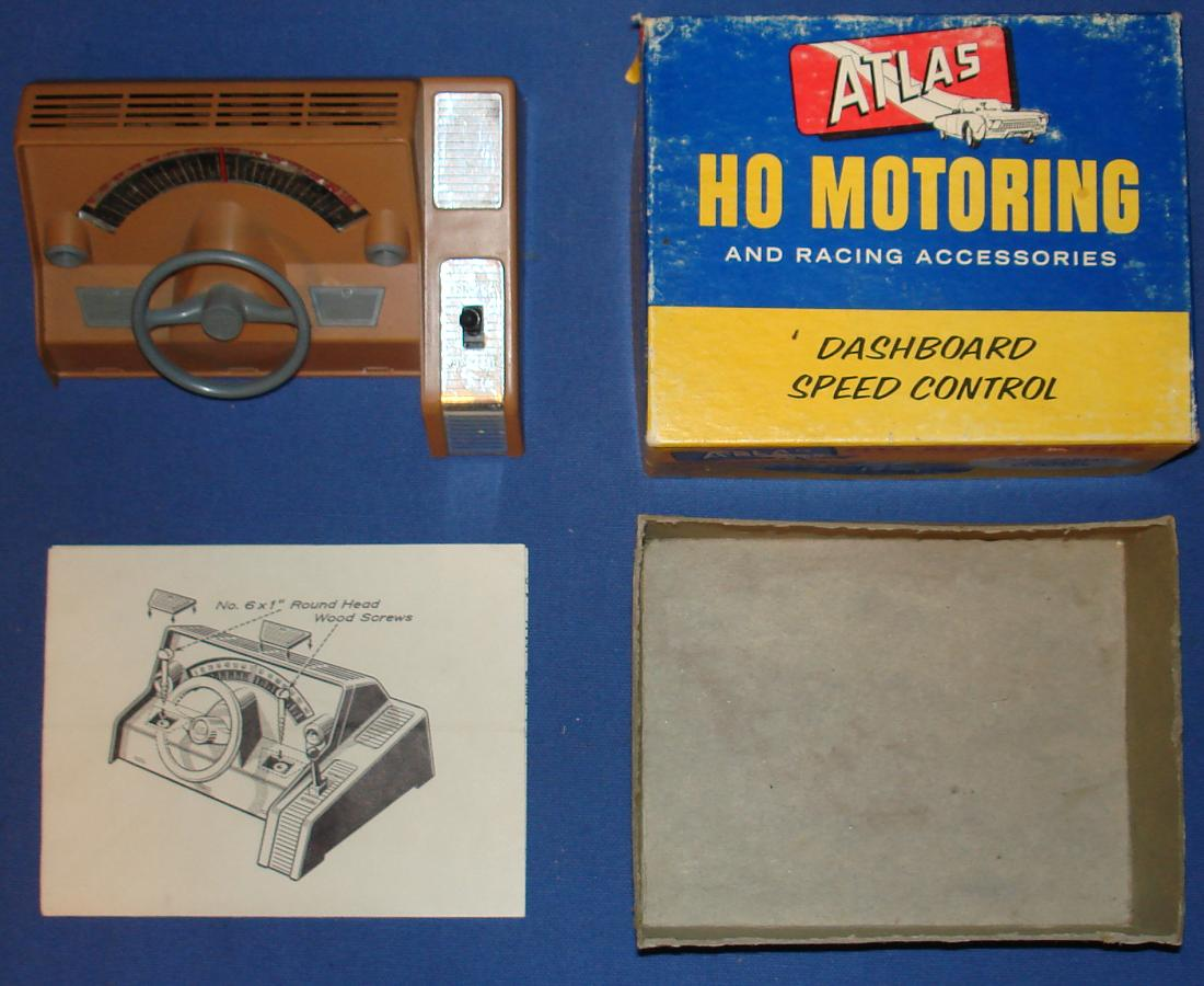 Atlas 1253 Slot Car Home Track Racing Dashboard Speed Control
