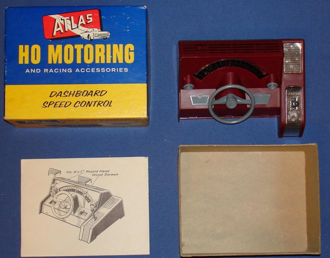 Atlas 1253 Slot Car Home Track Racing Dashboard Speed Control