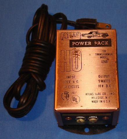 Atlas HO Slot Car Toy Transformer Track Power Pack Supply
