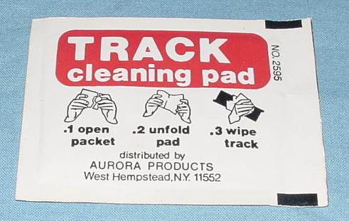 Aurora AFX Slot Car Race Track Cleaning Pad Package Instructions