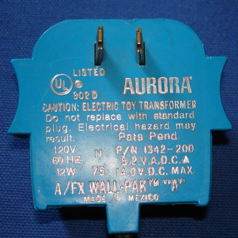 Aurora AFX Slot Car Racing Wall Pack Transformer Blue XFMR
