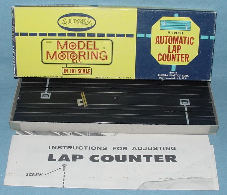 Aurora HO SlotCar Racing Track MIB Automatic Lap Counter #1526