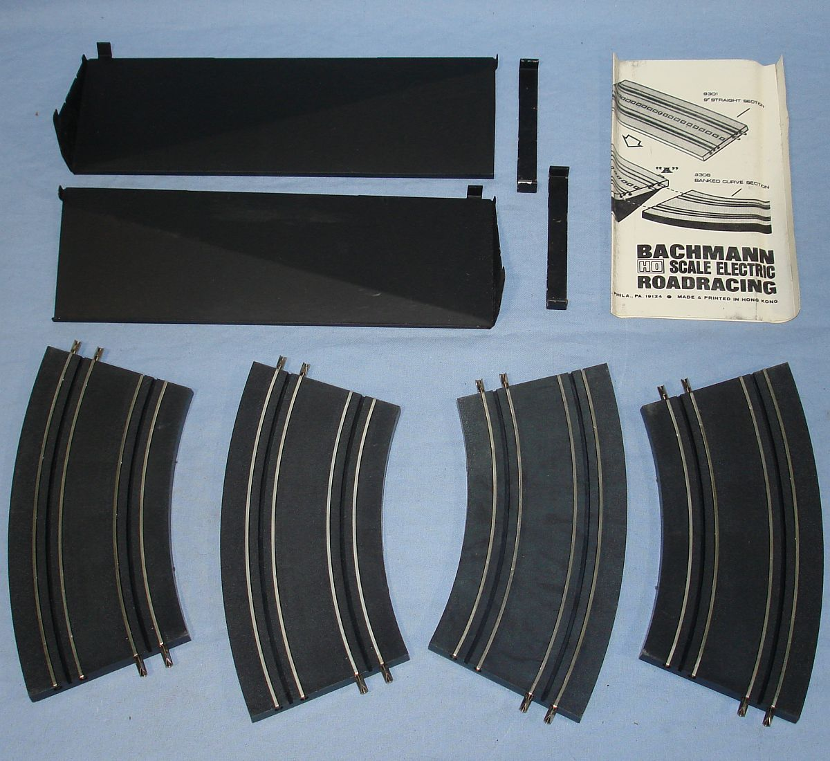 Vintage Bachmann Slot Car Racing Banked Curve Track Set #9308 Supports