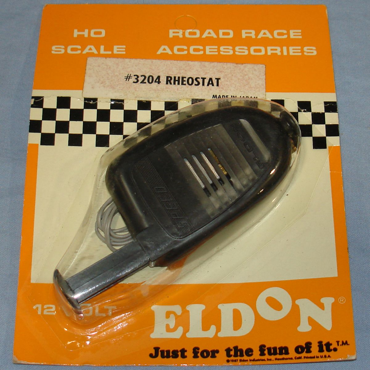 Eldon HO Road Race Accessories Slot Car Racing Track Rheostat Controller #3204