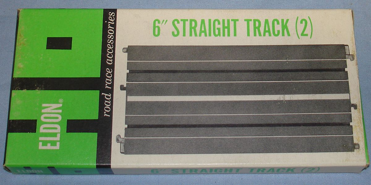Eldon HO Road Race Accessories Slot Car Racing Track 6 Inch Straights #3460