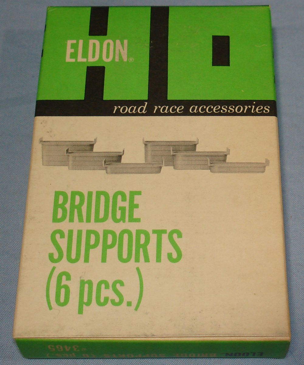 Eldon HO Road Race Accessories Slot Car Racing Track Bridge Supports #3465