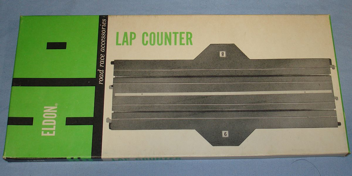 Eldon HO Road Race Accessories Slot Car Racing Track 9 Inch Straight Lap Counter #3470