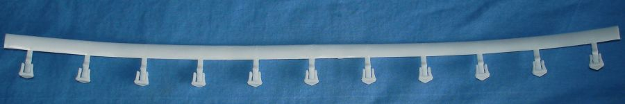 Life-Like Slot Car Racing Track 9 Inch Radius Curve White Guard Rail