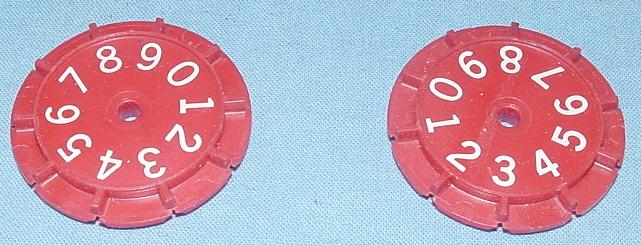 Lionel HO Scale Slot Car Racing Track Lap Counter Wheels