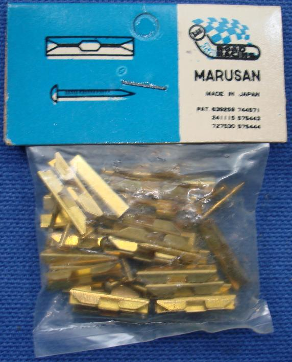Marusan SAN Made In Japan HO Slot Car Racing Track Brass Joiners Nails MIP