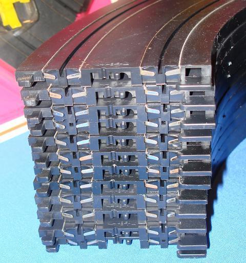 Tyco Slot Car Racing Track 9 Inch Radius Curves Tabs